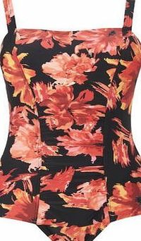 Bhs Womens Red Floral Spice Print Tummy Control This ladiesred floral spice print tummy control swimsuit has a gathered front panel with tummy control mesh to provide a flattering fit. Adjustable straps and moderate cut at the leg opening helps to http:...