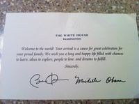 How to get a hand written birth congratulations from the president of the United States!