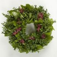Boxwood & Berry Wreath