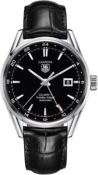 TAG HEUER MOD. CARRERA CALIBRE 7 TWIN-TIME WAR2010.FC6266 $2916.00