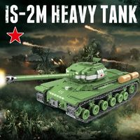 IS-2M Soviet Heavy Tank 1068 Pieces 6 Soldiers + Weapons $75.90