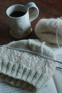 Ravelry: capucino's Knitted hat with lace