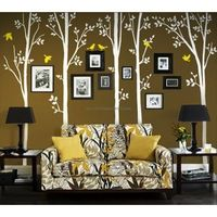 Spring Tree With Birds Wall Decals