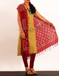 online shopping for mangalagiri rajasthani cotton salwar kameez are available at www.unnatisilks.com
