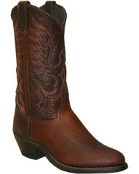 """Abilene 12"""" Antiqued Brown Bison Cowboy Boot with Medium Round Toe Item A6404 $187.99"""
