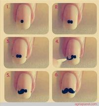 Mustache tutorial for your nail.