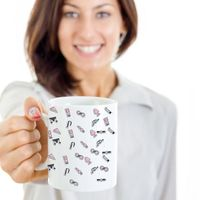 Sex toys stop the boredom in bed white ceramic coffee mug gag gifts $15.95