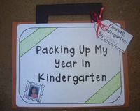 End of the School Year - Packing Up My Year in Kindergarten Memory Book and Craftivity $