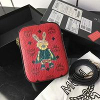 MCM Small Rabbit Box Crossbody Bag In Red