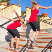 Ditch boring cardio machines and try this total-body toning plan you can do with just a flight of stairs.