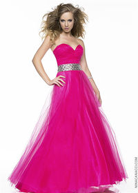 Pink Evening Ball Gown by Nina Canacci 4034