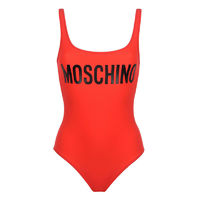 MOSCHINO LOGO SWIMSUIT RED