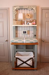 Coolest changing table ever!! And you can use it as a potters bench afterwards!