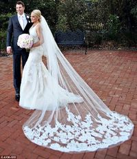 Bridal Veils Cathedral Length Cluttered Appliques Over Tulle Long Veils With Comb 3 Meter Bride Longest Cathedral Veil Custom Made Cheap Bridal Veil From Adminonline, $16.75| Dhgate.Com