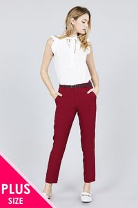 20% discount with BESTDEAL at checkout! Classic Woven Pants W/belt $24.00