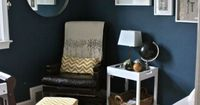 What a fabulously designed nursery! I'm thinking navy & yellow for the boys' room. Love this collection.