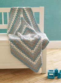 Ravelry: 4-Color Granny Baby Blanket pattern by Lion Brand Yarn