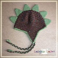 Dino spike hat. Free crochet pattern. Way cute! Just might make it to my list of winter hats to make my little man!