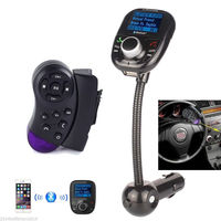 Car Steering Wheel MP3 Player Bluetooth LCD FM Transmitter Kit USB Charger Cable