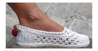 White Lace Espadrilles Toms Crochet Pattern by PdfPatternDesign, �'�5.00
