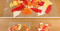 The end of summer doesn't mean we have to give up on the sun altogether. These bold and colorful fall leaf suncatchers are just the thing to use the sunlight to