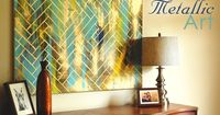 DIY Herringbone Metallic Artwork: Easy & CheapSupplies: �€� Metallic Paint (I used Rust-Oleum spray paint) �€� Some other colors of paint (I used whatever I had leftover from other projects) �€� Canvas or something to...