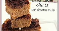 """Do you love your Rice Cereal Treats? I do!I normally make them the """"traditional"""" way, but when I came across Browned Butter with Peanut Butter Bars, from Joy th"""