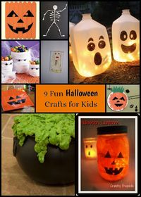 9 fun Halloween crafts for kids - have fun crafting with your kids - easy and hard - something for everyone in this fun craft collection!