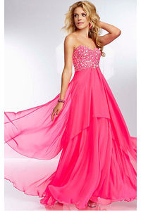 Fabulous Red Floor-length Chiffon Natural Prom Dresses