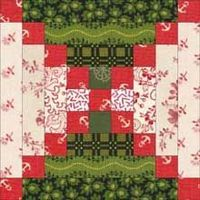 Chimneys and Cornerstones Quilt Pattern: Another in our series of Log Cabin Quilt Blocks. Block patterns and layouts to spark your creativity.
