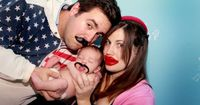 newborn + mustache = awesome family photos