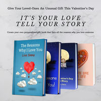 """Customized Love book with reasons why you love them/ A unique gift for this valentine """"The perfect way to say happy v-day"""" $99.50"""