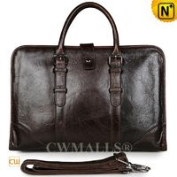 Custom Leather Bags | CWMALLS® Men Leather Business Briefcase CW907129[Father's Day Gifts]