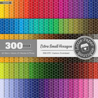 100 Colored Hexagon Digital Paper Rainbow Hexagon Digital Paper Queen Bee Clipart Scrapbook Bee Pattern 12x12 Pastel Neutral Bright $6.00