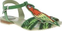 Miss L-fire Green Polly Parrot Womens Sandals If youre looking to stand out with your footwear, look no further than the vibrantly colourful Polly Parrot from Miss L-Fire. The man-made green sandals feature a T-bar strap, complete with embroidere http://w...