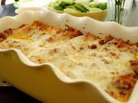 Lasagna using regular noodles, but without pre-cooking. Less-Than-Perfect Life of Bliss
