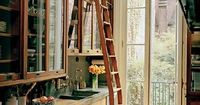 This is my kitchen - I like to linger here. <3 #Kitchen #Ladders