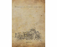"""Indian Four,1932,Original Handmade Drawing Print,""""Whatever it is, it's better in the wind."""", Original Drawing Print, 8x11 $31.00"""