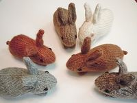 Henry's Bunny pattern would be a great idea for a scavengar hunt- instead o eggs how about finidng bunnies? Check out the knit pattern on Ravelry. Would be a great project for Vanna's Choice.