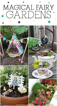 Fairy gardens are so much fun! The possibilities for these enchanting little gardens are endless. You can make them entirely yourself or buy some of the parts a