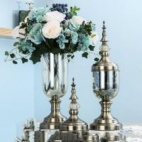 European Crystal Glass Vase Ornaments Modern $189.00