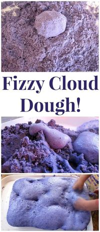 This multi-leveled sensory explore become science experiment is a great entertainer as well as playful learning experience! Take a look at our Fizzy Cloud Dough