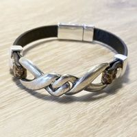 Genuine leather Jewelry for Men, Brown Leather Bracelet, Gift for Fathers Day $32.00