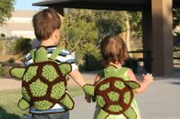 Turtle Backpack for Kids Ninja Turtle Crochet Green