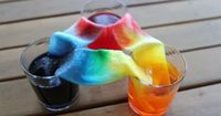 This home science experiment is great to try on a lazy afternoon when boredom strikes. The bold colors make for an impressive result and can be used for a quick