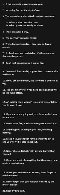 Most of these can apply to our everyday life...