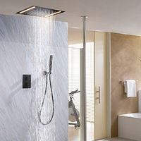 Contemporary LED Thermostatic Painting Shower System Rain Shower Faucet.jpg