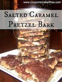 Salted Caramel Chocolate Pretzel Bark... just made this... it is excellent and so easy!!