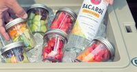 Bacardí Cocktails In Mason Jars // {TIP} Pack Jars Full Of Fruit Garnishes So Friends Can Make Their Own Fruity Bacardí Cocktails ��Ž #cocktails #party #drinks