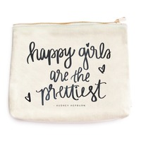 Happy Girls Are The Prettiest Makeup Bag @The Lavender Lilac
